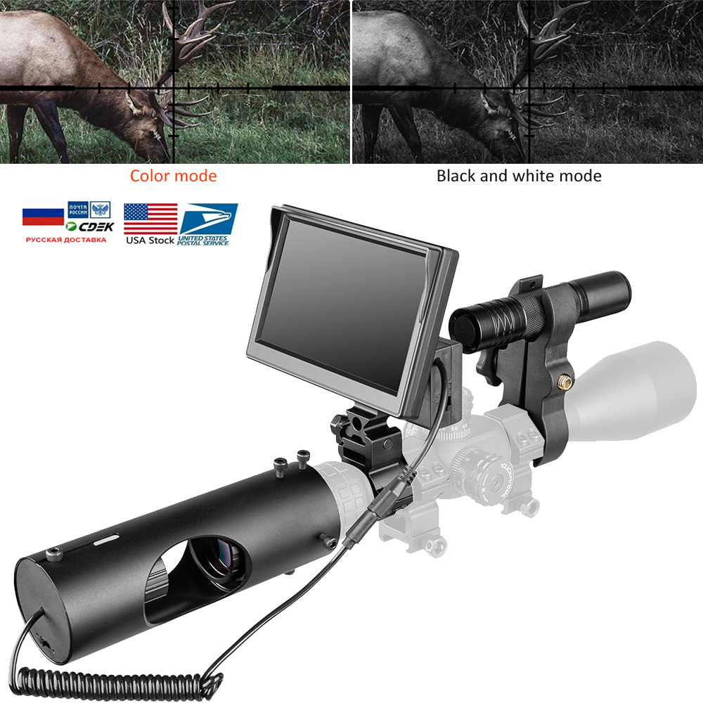 Night Vision Scopes Hunting Optics Sight Tactical 850nm Infrared LED IR Infrared Camera Waterproof Night Vision Device Hunting Прицел
