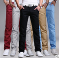 Aliexpress 2016 Primavera otoño nueva versión Coreana de la venta caliente de los hombres de la personalidad Salvaje moda casual pantalones rectos Barato al por mayor