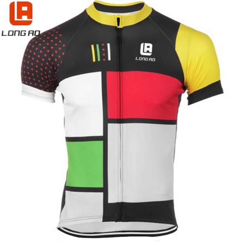 longao 2017 high quality Man women Summer Short Sleeve Cycling Jerseys Bike Sports Clothing Bicycle Clothes