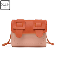 XZP Luxury Patchwork Ladies Fashion Messenger Bag Quality PU Small Square Shoulder Chain Stitching Handbag
