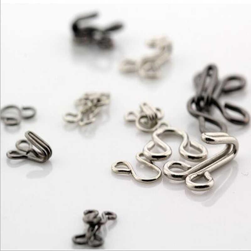 500 PCS เสื้อ Hook และ Eye Fastener โลหะหัวเข็มขัดสำหรับ Bra/ชุดรัดตัว/คอ/กระเป๋า wraps ผ้านวม/เสื้อ/เสื้อผ้าอุปกรณ์เสริม