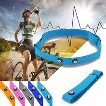 Регулируемый спортивный ремешок для измерения сердечного ритма, для Garmin Wahoo Polar, беспроводной датчик сердечного ритма