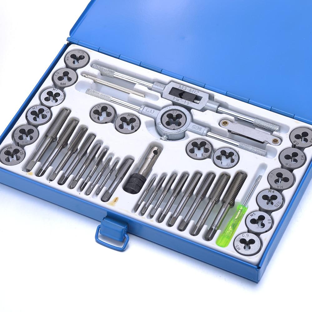 40 tk legeeritud terasest kraani- ja die-komplekti keermetööriist - Käsitööriistad - Foto 2