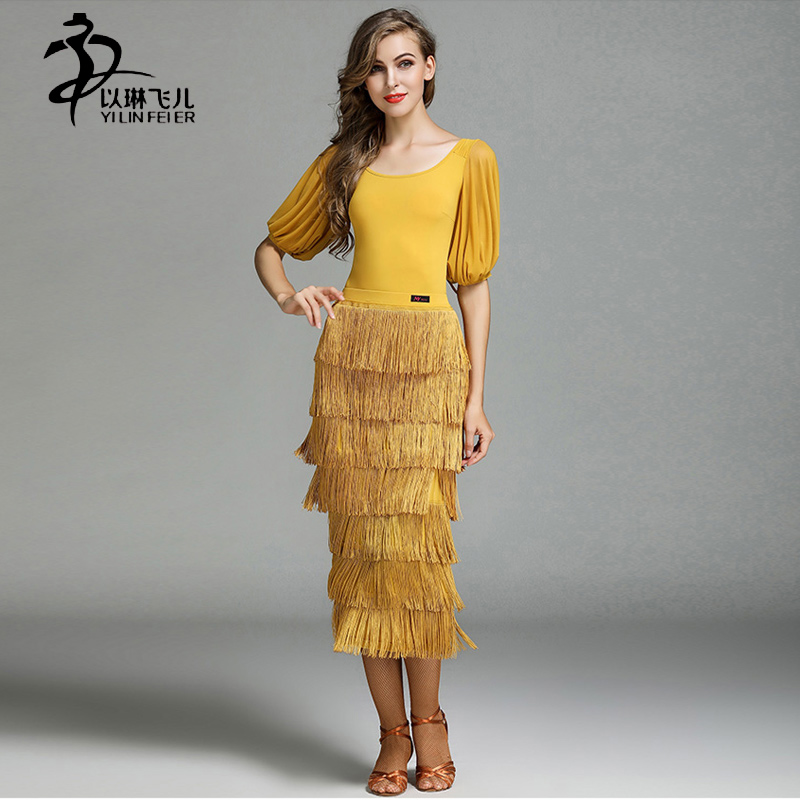 Women Salsa Dress Latin Tango Samba Dance Dress Sexy High-end Tassel Latin Dance Costumes For Women Latin Style Dance Costume