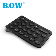лучшая цена B.O.W Portable Slim Mini Number Pad, 22 Keys Wireless USB Multi-Function Numeric Keypad Keyboard for Laptop Desktop PC Notebook