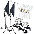 Foto Studio 8 piezas 35 w bombillas LED 50*70 cm iluminación continua Softbox 4-Lámpara-titular difusor soporte de luz 2 piezas Kit de fotografía