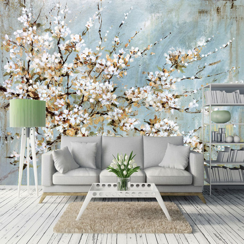 compare prices on cherry blossoms wallpaper- online shopping/buy