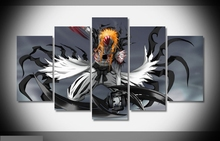 Artistic originality  Hollow ichigo bleach anime print poster canvas decoration 5 pieces  20x35cmx2,20x45cmx2,20x55cm