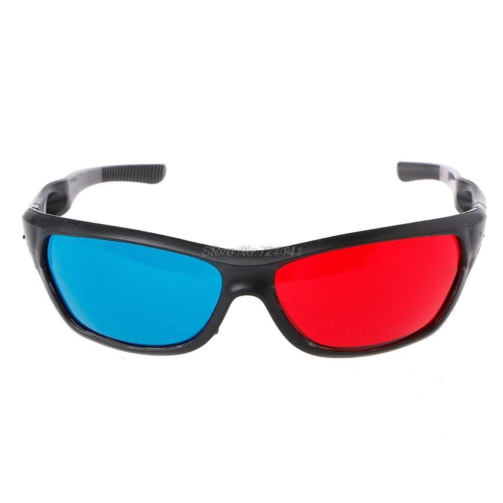 Universal White Frame Red Blue Anaglyph 3D Glasses For Movie Game DVD Video TV Electronics Stocks