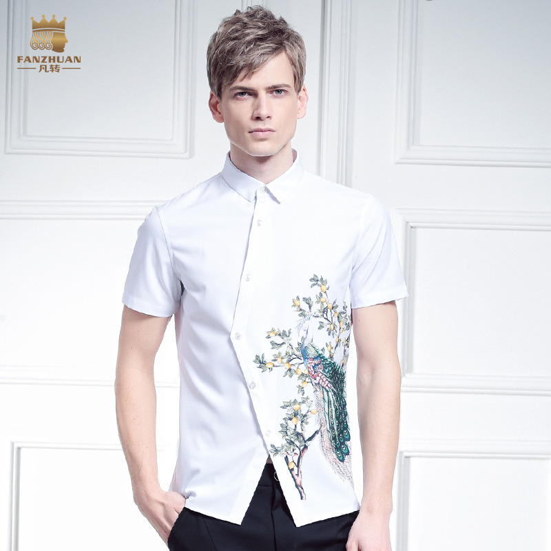 Popular Designer White Pattern Shirt for Men-Buy Cheap Designer ...