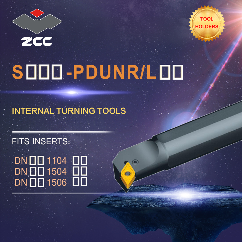 ZCC CNC lathe tool holder PDUNR/L tungsten carbide cutting tool for cnc lathe cutter inserts DN** DNMG internal turning tool free shipping original cnc lathe pclnr2525m12 pclnl2525m12 internal turning tool holder indexable cutting tool for cnmg