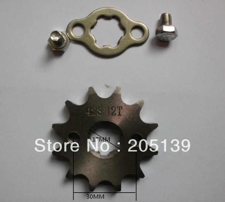 NEW 12 t tooth 17MM FRONT ENGINES sprocket FOR 428 CHAIN motorcycle MOTO PIT dirt ATV parts bike