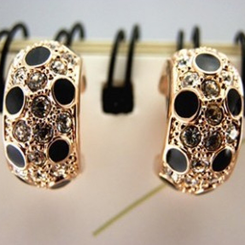 plated stud small popular cz inlaid owl red earrings vintage white black wholesale product delicate gold