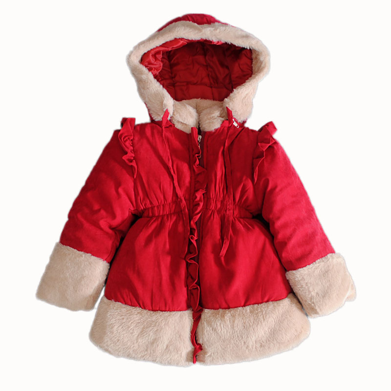 ФОТО Anlencool Promotion Regular Feather Free Shipping New Flax Korean Children's Clothing Wood Ear Hairy Baby Outwear Girls Jacket