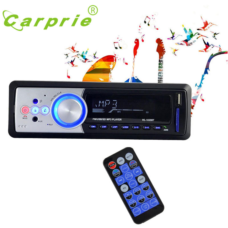 Tiptop New Arrival Bluetooth Car Stereo Audio In-Dash FM Aux Input Receiver SD USB MP3 Radio 2017 Wholesale Price Hot_KXL0507