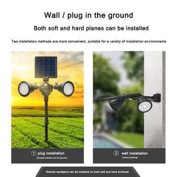 4 In 1 Solar Lights Outdoor Motion Sensor Double Head Multifunction Spotlight Solar Garden Light Wall Waterproof Lawn Lamp