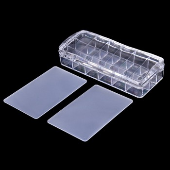 Biutee 12.5*5.5cm Big Size Clear Jelly Nail Stamper Rectangular Silicone Soft Nail Art Stamper & 2 Scrapers Stamping Tool недорого