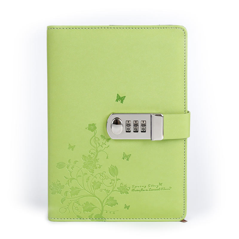 Noul notebook din piele A5 Jurnal personal cu cod de blocare Personal - Blocnotesuri și registre - Fotografie 3