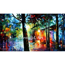 Hand Painted Landscape Abstract Palette Knife Modern Sunlight In The Drops Oil Painting Canvas Wall Living Room Artwork Fine Art