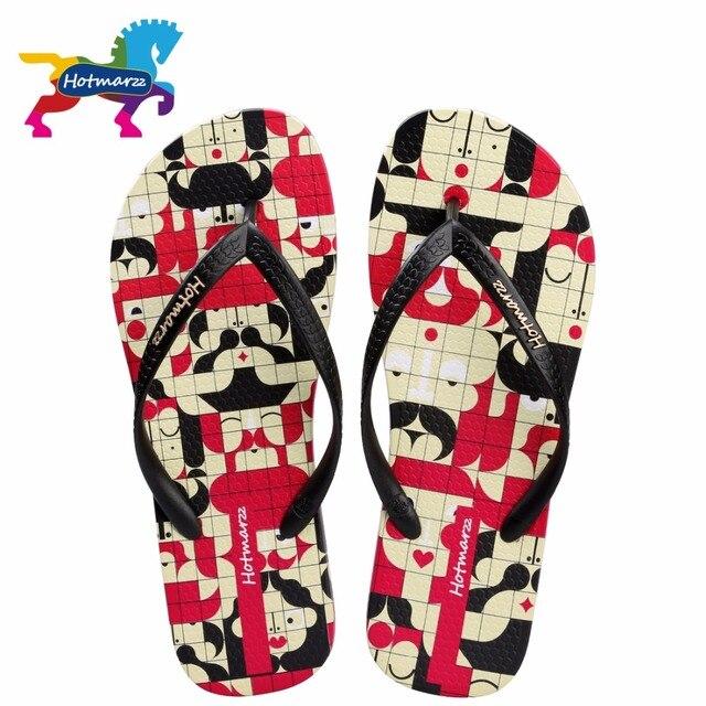 4be1dd98850cb Hotmarzz Women Flat Flip Flops Face Mosaic Summer Ladies Soft Slippers  Lightweight Beach Sandals Bathroom Slides