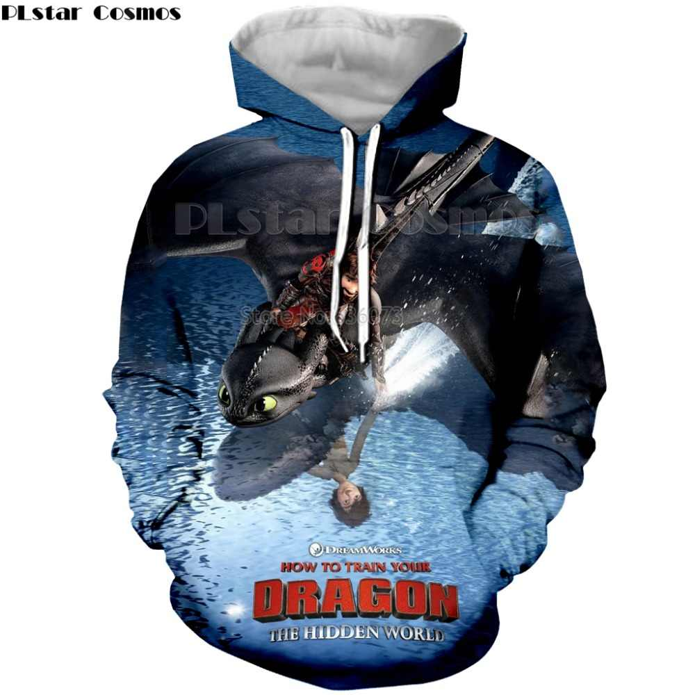 190f397ad ... PLstar Cosmos 3D Print New Arrival How to Train Your Dragon Mens  Printed shirt Loose Pullover