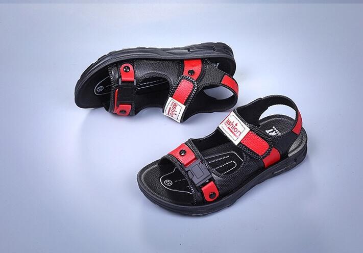 Большой Размеры Лето Классические сандалии Для мужчин легкий пляжная обувь одноцветное Цвет уличные Нескользящие сандалии 176