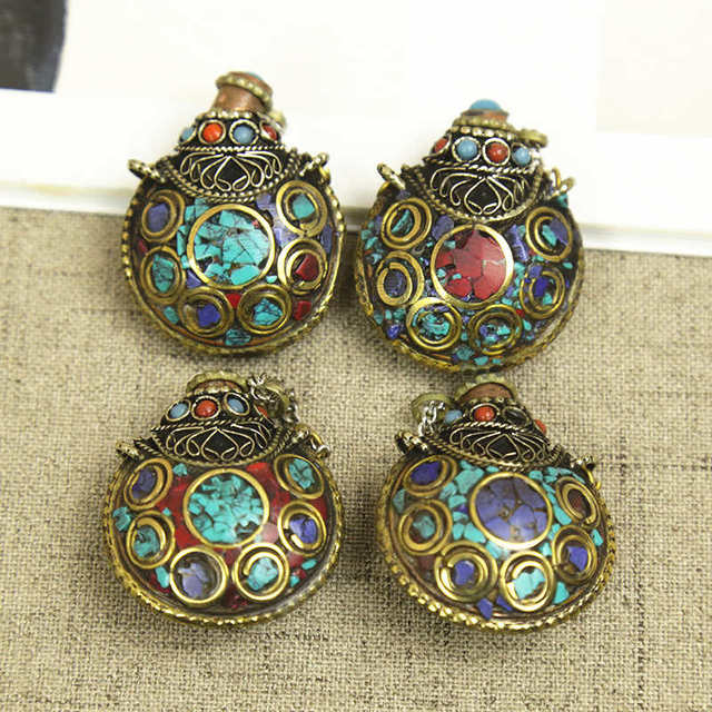 Byh020 Nepal Lovely Small Snuff Bottles Tibetan Amulet Pendants