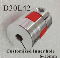 Motor Jaw Shaft Coupler Claw Type Flexible Coupling With Elastic Spider D30xL42mm Inner Hole 6 15mm