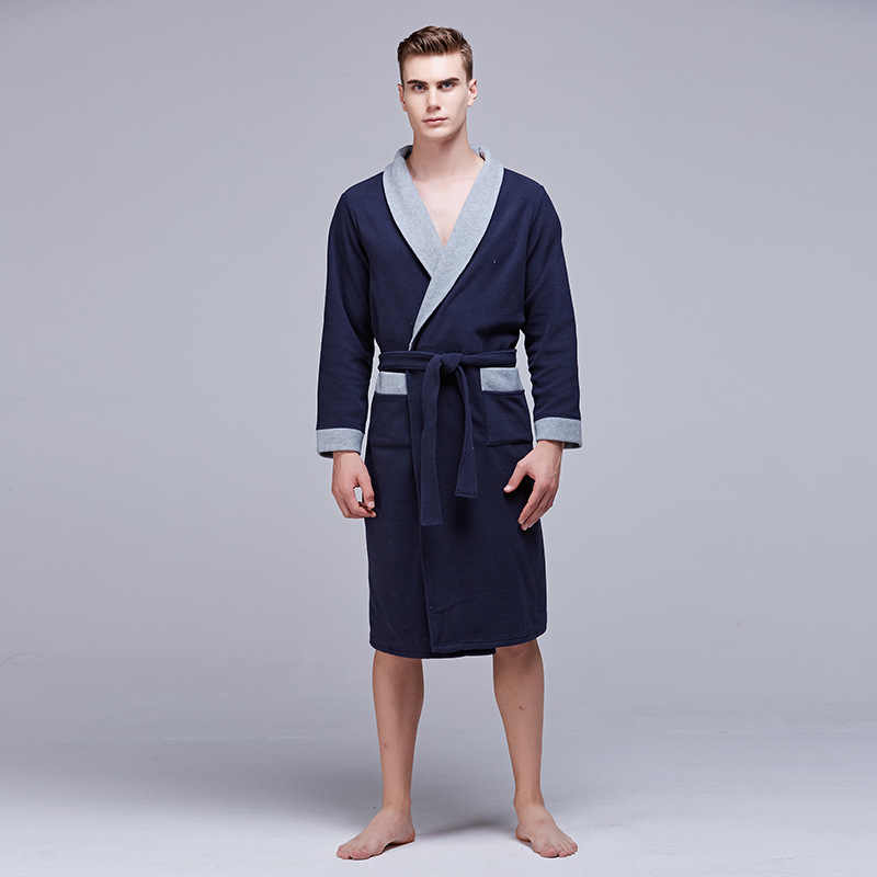 290f9603a1 Detail Feedback Questions about Simple Design Male Bath Robe Hotel Spa Long  sleeve Bathrobe Sleepwear Pajamas For Men Kimono Nightwear Homme Night  Dressing ...