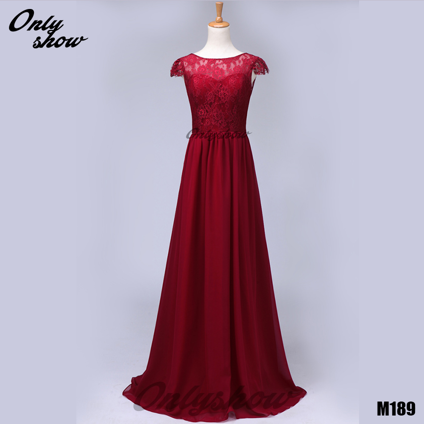 Buy real photos wind red lace chiffon for Red dresses for weddings bridesmaid