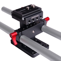 WARAXE 2630 Lift Style Arca Swiss Clamp Base Plate, 15mm Rod Hole for quick release and attachment of camera