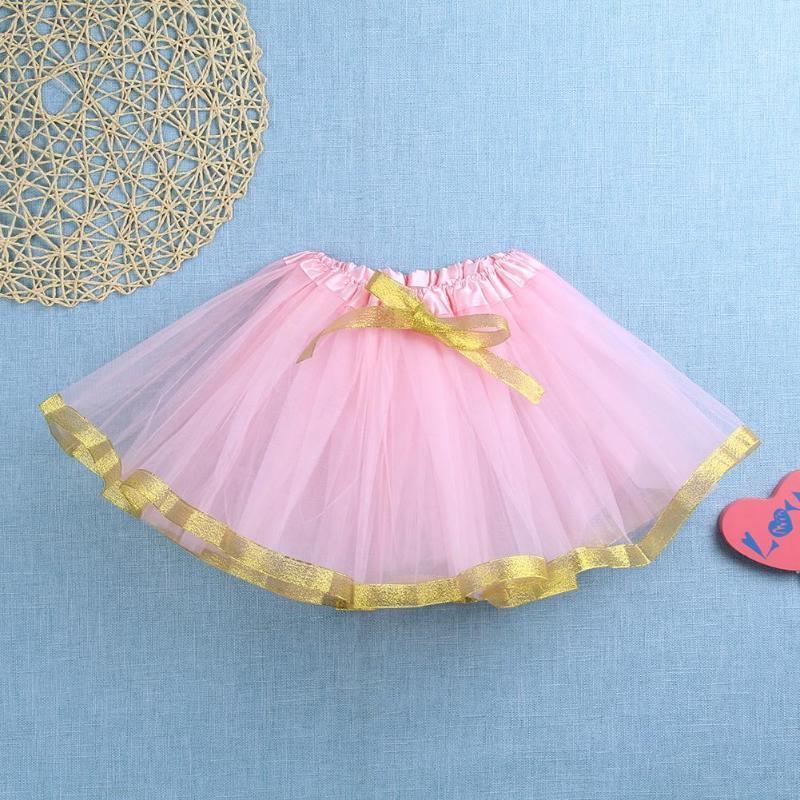 Детская модная одежда для девочек Повседневное многослойная юбка-пачка с бантом дети блесток вечерние танцевальные Юбка для балета Детски...