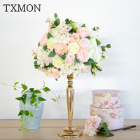Wedding decoration supplies artificial floral table main table flower photography props hotel stage T platform road decoration