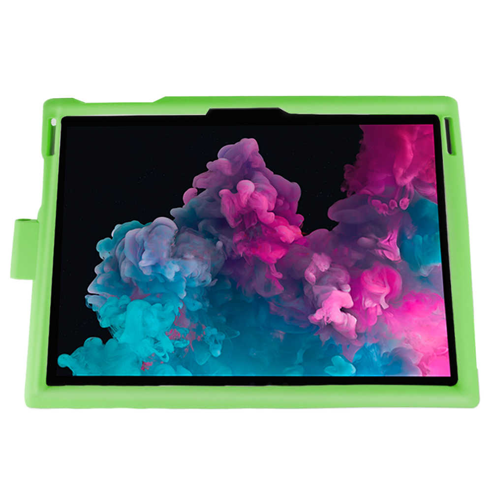 Carcasa de silicona de Color caramelo a prueba de golpes para Microsoft Surface Pro 3 4 5 6 funda protectora para tableta con pluma ranura