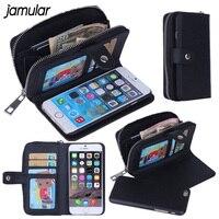 Luxury Lady Women Zipper Leather Handbag Wallet Phone Case For IPhone 6 6s Plus 5S SE