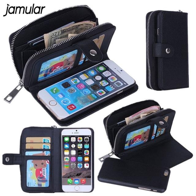 best website 05959 d5a39 JAMULAR Lady Women Leather Handbag Wallet Phone Case for iPhone X 7 ...