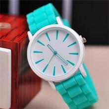 цена 2015 New Famous Brand Geneva Silicone Quartz Watch Women Jelly Casual Dress Watches Relogio Feminino Clock Pink Hot Sale онлайн в 2017 году