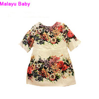 The New Europe And The United States 2015 Spring Children S Wear Cute Girl Print Dress