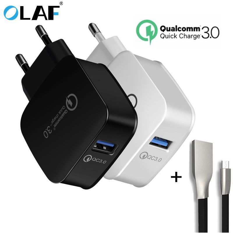 Quick Charge 3.0 EU Plug USB Universal Phone Charger Fast Charger Wall Charging Home Travel For iphone 7 For Xiaomi Samsung S8