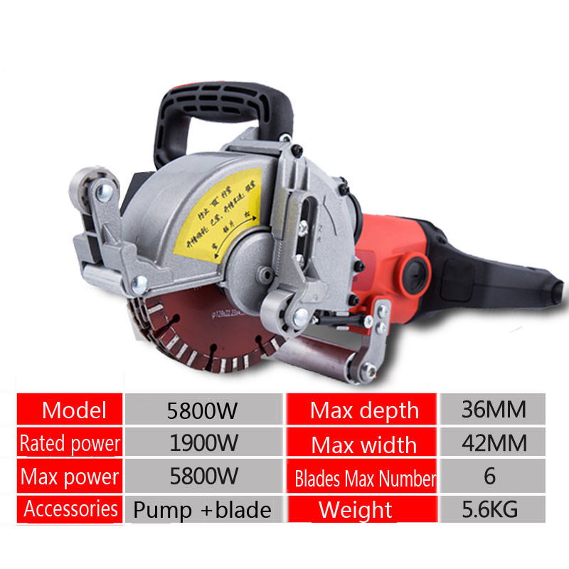 220V Electric Wall Chaser Groove Cutting Machine Wall slotting machine 5800W цена