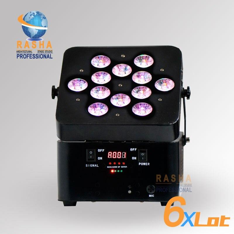 6X много Лидер продаж Раша 12*15 Вт 5in1 RGBAW Батарея питание Беспроводной LED PAR света для дискотеки пари события, батарея энергии пар может