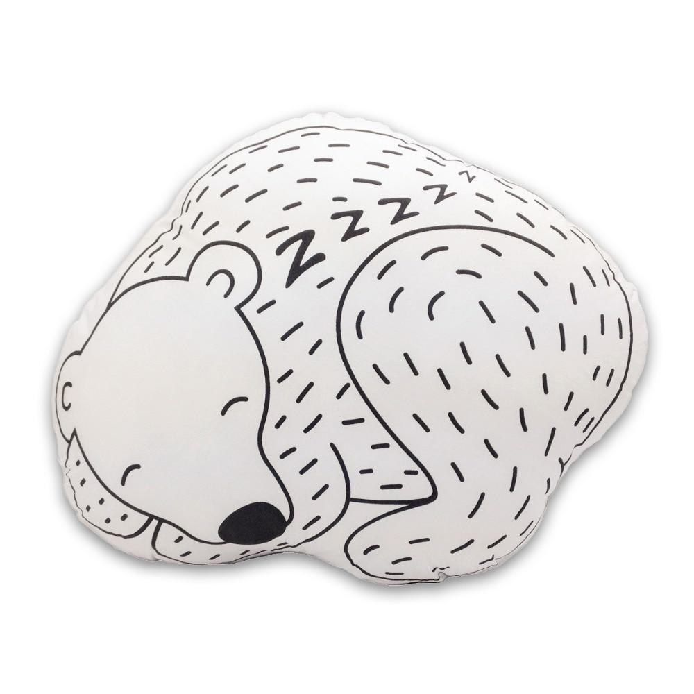 Kawaii Soft Bear Toys Cute Animal Cushions Baby Cotton Crib Decoration Kids Creative Christmas Gifts In Stock Free Shipping 1pcs
