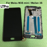 Best Working 5 0 Full LCD Display Touch Screen Digitizer Assembly Frame For Meizu M3S Mini