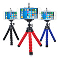 Mini pulpo trípode flexible de esponja para el iphone samsung xiaomi huawei teléfono móvil smartphone cámara réflex digital de montaje del trípode para gopro