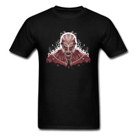 Aanval Op Titan T-Shirt WOW Nieuwste Ontwerp Hoge Kwaliteit Volledige Katoen Poweful Superhero Tshirt League Game Printg T-shirt Mannen