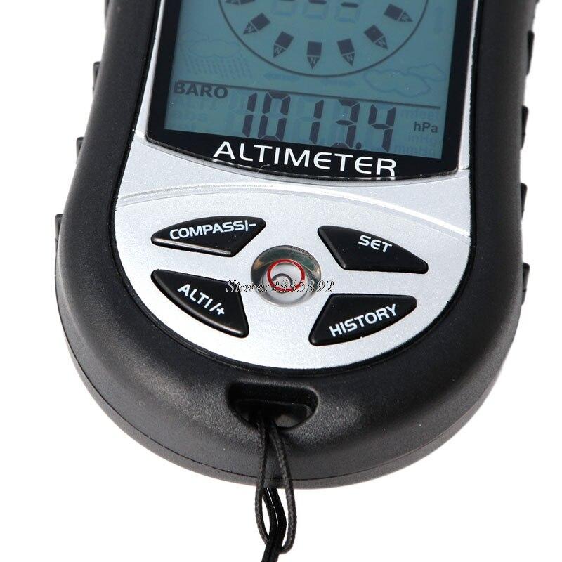 Цифровой 8 в 1 ЖК-компас барометр альтиметр Термо Температура Часы Календарь