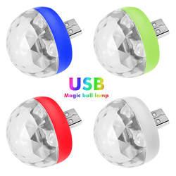 USB мини-дискотека, портативный вечерние, DC 5 В usb-питание светодиодный вечерние сценический шар DJ освещение, караоке вечерние Led Рождество
