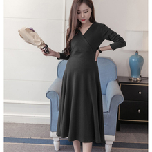 Stylish V Neck Maternity Dress