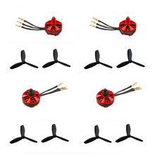 AKASO 4 Pcs 2204 2300KV Brushless motor + 4pair black 5045 Propeller 3 Blade Props for Quadcopter RC QAV250 ZMR250 DRQ250 FPV
