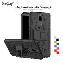 For Huawei Mate 10 lite Case Shockproof Armor Rubber Hard Phone Case For Huawei Mate 10 Lite Protective Cover For Huawei Nova 2i g case slim premium чехол для huawei mate 10 lite nova 2i black